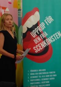 Amanda Billberg, koreograf, dansare, skådespelare och ordförande i Danscentrum Norr. Foto: Lena Gustafsson